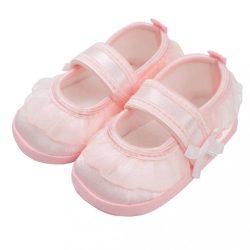 Baba kislányos cipő New Baby szatén rózsaszín 12-18 h