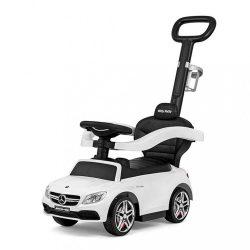 Gyermek jármű vezető rúddal Mercedes Benz AMG C63 Coupe Milly Mally white
