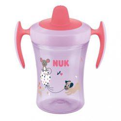 Baba itató pohár NUK Trainer Cup 230 ml rózsaszín