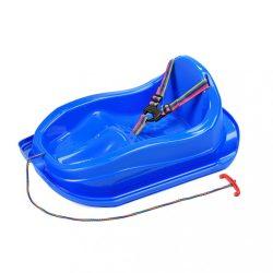 Műanyag szánkó háttámlával BAYO MINI kék