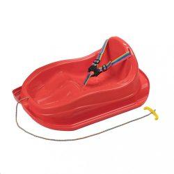 Műanyag szánkó háttámlával BAYO MINI piros