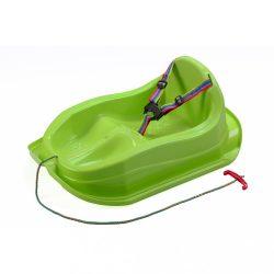 Műanyag szánkó háttámlával BAYO MINI zöld