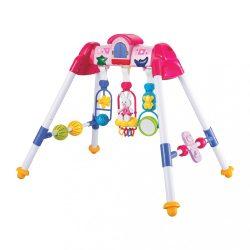 Gyerek zenélő fejlesztő babatornáztató állvány BAYO premium pink