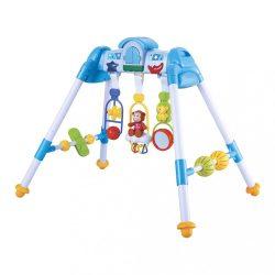 Gyerek zenélő fejlesztő babatornáztató állvány BAYO premium blue