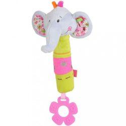 Plyšová pískací hračka s kousátkem Baby Ono sloník