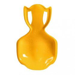 Gyerek műanyag hócsúszka popsi szánkó BAYO COMFORT LINE XL sárga