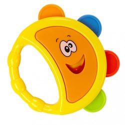 Gyerek csörgődob Bayo sárga