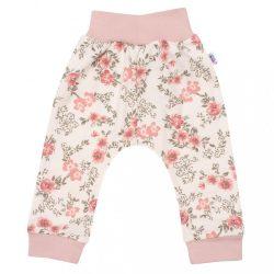 Baba szabadidő nadrág New Baby Flowers rózsaszín