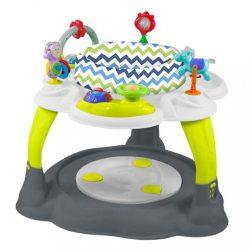 Többfunkciós játékasztal Baby Mix zöld-szürke