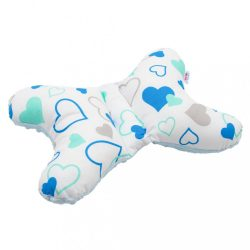Stabilizáló párna New Baby kék szívecskék