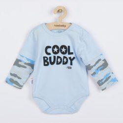 Baba hosszú ujjú body New Baby With Love kék