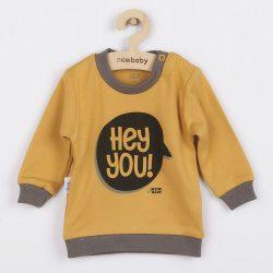 Baba póló New Baby With Love mustárszín