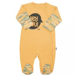 Baba kézeslábas New Baby With Love mustárszín