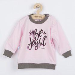 Baba póló New Baby With Love rózsaszín