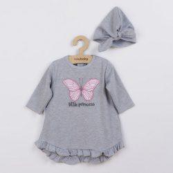 Baba ruha és sapka-turban New Baby Little Princess szürke