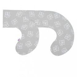Szoptatós C alakú párnahuzat New Baby maci szürke