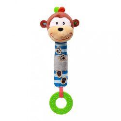 Plyšová pískací hračka s kousátkem Baby Ono opička George
