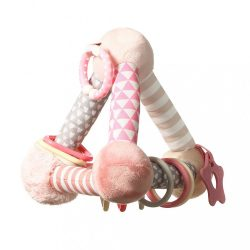 Fejlesztő játék Baby Ono Tiny Yoga pink piramis