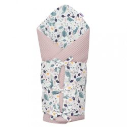 Klasszikus megkötős pólya New Baby Vafle lila nyuszi