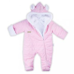 Téli baba kezeslábas Nicol Kids Winter rózsaszín