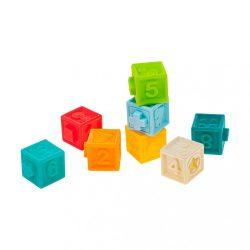 Érzékszervfejlesztő játék 8db Akuku kocka