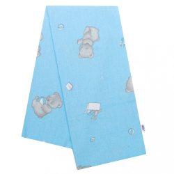 Flanel pelenka nyomtatott mintával New Baby kék maci