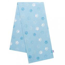 Flanel pelenka nyomtatott mintával New Baby kék mancsok