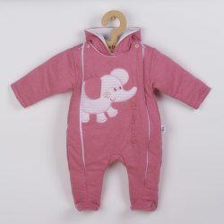 Téli kezeslábas New Baby Winter Elephant rózsaszín