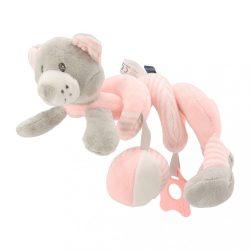 Spirálos játék kiságyra Baby Mix maci rózsaszín