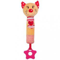 Sípolós plüss játék rágókával Baby Mix cica