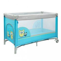 Gyermek utazóágy Baby Mix Bagoly kék