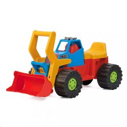 Gyerek kotró és rakodó jármű BAYO 74 cm piros