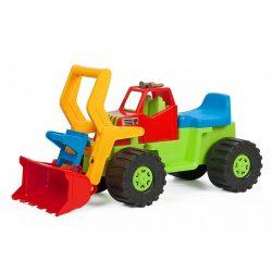 Gyerek kotró és rakodó jármű BAYO 74 cm zöld
