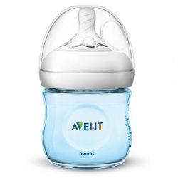 Csecsemő cumisüveg Avent Natural 125 ml kék (a csomagolás sérült)
