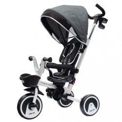 Gyerek tricikli Baby Mix 5az1-ben RELAX 360° szürke