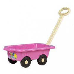Gyerek utánfutó Pótkocsi BAYO 45 cm rózsaszín