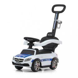 Gyermek jármű vezető rúddal Mercedes Benz AMG C63 Coupe Milly Mally Police