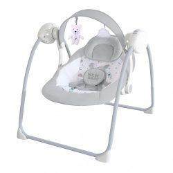 Gyermek hintaszék NEW BABY TEDDY Gray (a csomagolás sérült)
