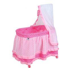 Játék kiságy PlayTo Nikolka világos rózsaszín (a csomagolás sérült)