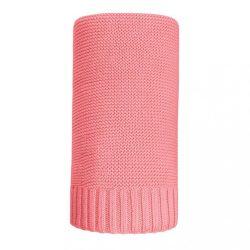 Bambusz kötött takaró NEW BABY 100x80 cm piros