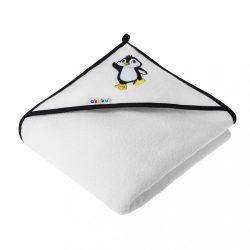 Gyerek törölköző 100x100 Akuku fehér pingvin