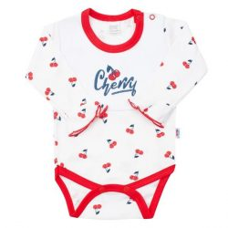 Body pamut hosszú ujjú New Baby Cherry