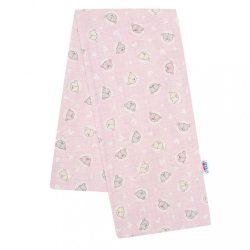 Pamut pelenka nyomtatott mintával New Baby rózsaszín kis maci