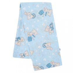 Pamut pelenka nyomtatott mintával New Baby kék maci és szívecske