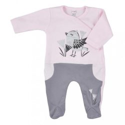 Baba pamut kézeslábas Koala Birdy rózsaszín