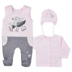 3-részes pamut együttes Koala Birdy rózsaszín