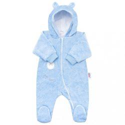 Baba plüss kezeslábas kapucnival New Baby Sweetheart kék