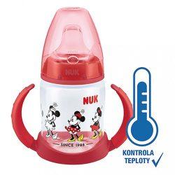 Baba tanuló itatópohár NUK Disney Mickey hőmérséklet jelzővel 150 ml piros