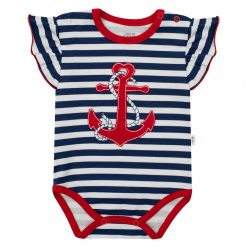 Lányos rövid ujjú body New Baby Marine