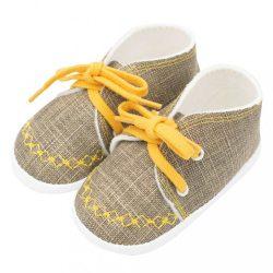 Baba tornacipő New Baby Jeans mustard 3-6 h